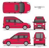 La livraison L1H2 Van professionnelle d'Opel Combo 2016 Images libres de droits
