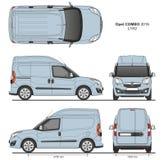 La livraison L1H2 Van professionnelle d'Opel Combo 2016 Photographie stock libre de droits