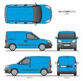 La livraison L1H1 Van professionnelle d'Opel Combo 2016 Images libres de droits