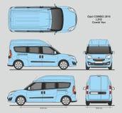 La livraison L2H2 Van professionnelle d'Opel Combo 2016 Photos libres de droits