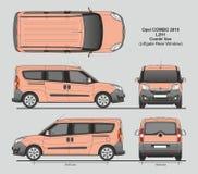 La livraison L2H1 Van professionnelle d'Opel Combo 2016 Images stock