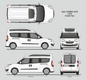 La livraison L2H2 Van professionnelle d'Opel Combo 2016 Photos stock