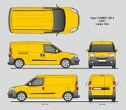La livraison L2H1 Van professionnelle d'Opel Combo 2016 Image stock