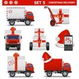 La livraison pour Noël de vecteur a placé 5 Illustration Stock