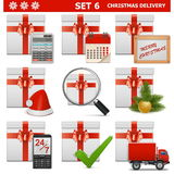 La livraison pour Noël de vecteur a placé 6 Photographie stock libre de droits