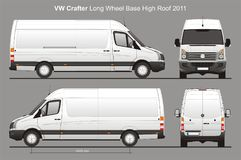 La livraison Van Blueprint de VW Crafter LWB Photos stock