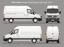 La livraison Van Blueprint de VW Crafter MWB Photographie stock libre de droits