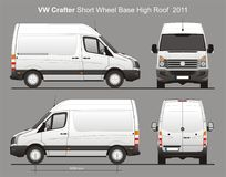 La livraison Van Blueprint de VW Crafter SWB Photos stock