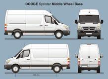 La livraison Van Blueprint du sprinter MWB de Dodge Images stock