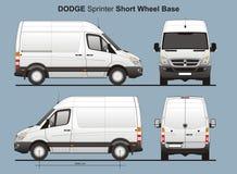 La livraison Van Blueprint du sprinter SWB de Dodge Photographie stock