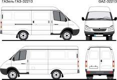 La livraison Van russe GAZ-32213 Photographie stock libre de droits