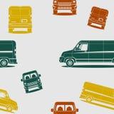 La livraison Van Seamless Pattern de cargaison Image stock