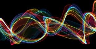 La llama colorida agita el fondo abstracto Imagen de archivo