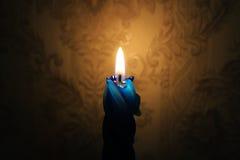 La llama de vela Imagen de archivo libre de regalías