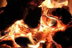 La llama en el horno Imágenes de archivo libres de regalías
