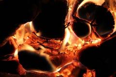 La llama en el horno Imagenes de archivo