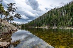 La llamada de Rocky Mountain National Park imagen de archivo libre de regalías