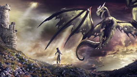 La llamada del dragón Fotos de archivo