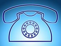 La llamada telefónica indica las respuestas discusión y charla Fotografía de archivo
