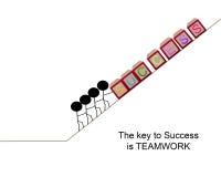 La llave al éxito es trabajo en equipo Foto de archivo