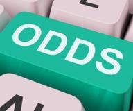 La llave de las probabilidades muestra la ocasión en línea o el juego Fotografía de archivo