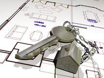 La llave de su casa ilustración del vector