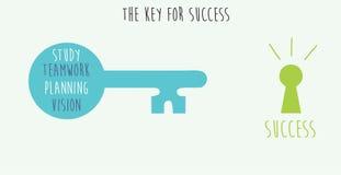 La llave para el éxito Imagenes de archivo