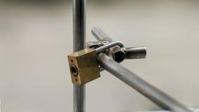 La llave principal es cerradura el acero Fotografía de archivo