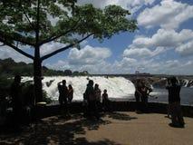 La Llovizna公园,热带水秋天 免版税库存图片