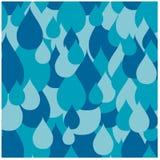 La lluvia azul inconsútil cae el modelo Imágenes de archivo libres de regalías