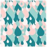 La lluvia azul y rosada inconsútil cae el modelo Imagenes de archivo
