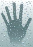 La lluvia cae la mano Imagen de archivo