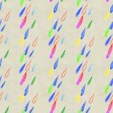 La lluvia de Coloful cae el modelo inconsútil Fotografía de archivo