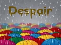La lluvia de la desesperación representa llover la desesperación y llovió stock de ilustración