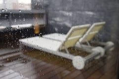 La lluvia de los ociosos del sol Imagen de archivo