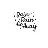 La lluvia de la lluvia sale Caligrafía moderna Tarjeta manuscrita Imagen de archivo libre de regalías