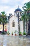 La lluvia en Herceg Novi Foto de archivo libre de regalías