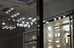 La lámpara cristalina moderna del LED llevó la lámpara de pared, iluminación comercial del equipamiento casero de la iluminación Imagen de archivo
