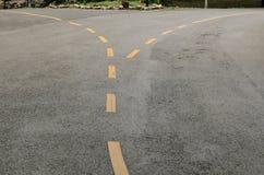 La línea de carriles de tráfico Fotografía de archivo