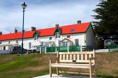 La línea de costa en Stanley portuario Foto de archivo libre de regalías