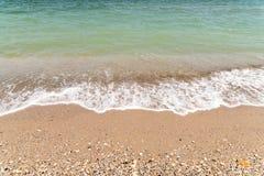 La línea de la playa del Mar Negro Foto de archivo libre de regalías
