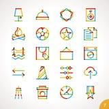 La línea iconos del Highlighter del vector fijó 7 Imagenes de archivo