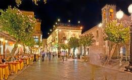 La località di soggiorno di Taormina Fotografia Stock