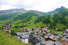 La località di soggiorno 1600m-high di Malbun nel Liechtenstein Immagine Stock