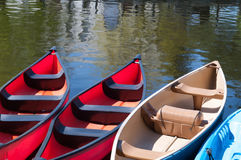La location canoes lac Dows Photographie stock