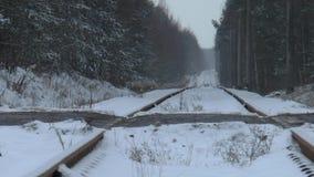 La locomotiva ferroviaria si precipita a massima velocita video d archivio