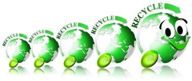 La locomotora de la ecología recicla Fotos de archivo libres de regalías