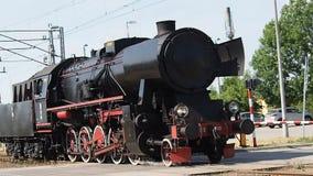 La locomotora de vapor PKP clasifica las ruedas Ty2 almacen de video