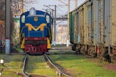 La locomotora de la yarda fotografía de archivo libre de regalías