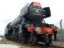 La locomotora del Scotsman del vuelo en la exhibición en RailFest en York después de un respray Imagen de archivo